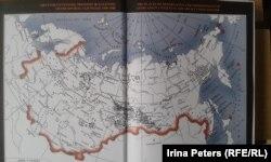 Карта советских лагерей и тюрем, где содержались узники из Литвы.