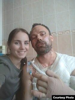 Раман Зайцаў з жонкай Алінай, фота onliner.by