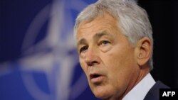 US Secretary of Defense Chuck Hagel says U.S. military forces are ready to take action against Syria if President Barack Obama agrees such action.