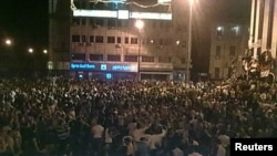 од вчерашните протести во Хомс