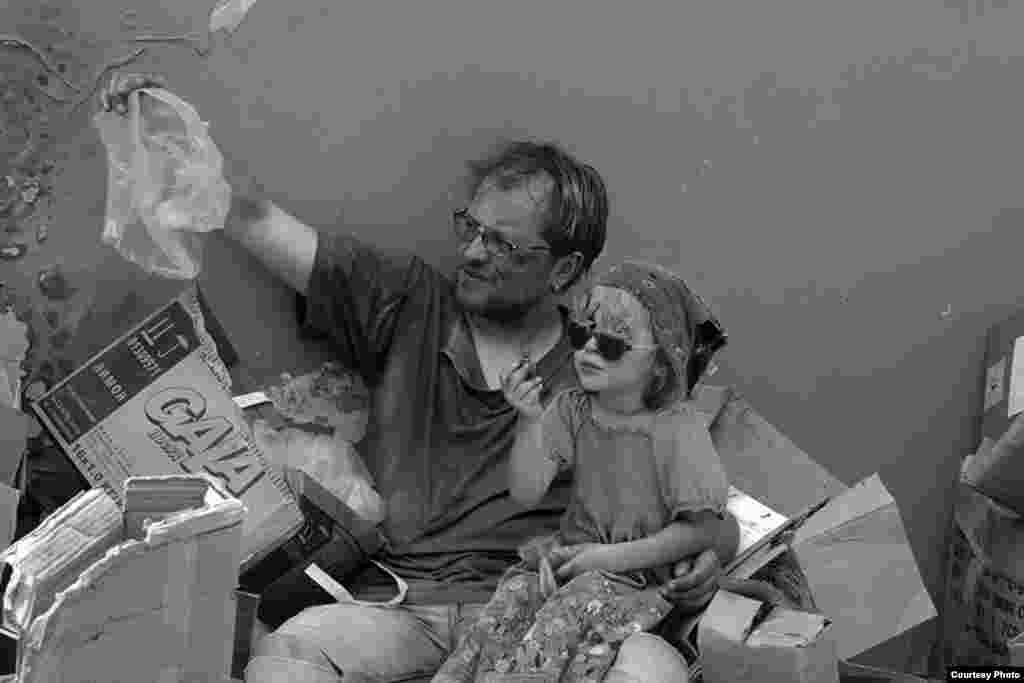 Андрій Бондар з дочкою