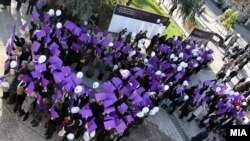 Одбележување на Меѓународниот ден за борба против насилството врз жените во Скопје