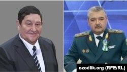 MXXning 22 yillik qudratli raisi¸ general Rustam Inoyatov(chapda) va Ichki ishlar vaziri lavozimiga yaqinda tayinlangan general Abdusalom Azizov.