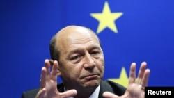 Romanian President Traian Basescu (file photo)