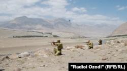 FILE: Border guards along Tajikistan's border with Afghanistan