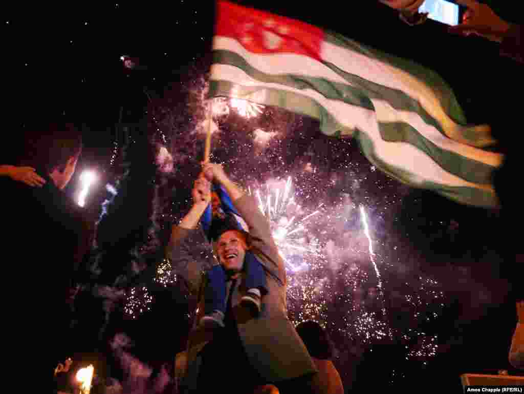 "Abkhaz celebrate on their ""independence day"" in 2014. Since the war, Abkhazia has been shunned by the international community. But in 2008, shortly after the Russia-Georgia war, Russia formally recognized Abkhazia. Then-Georgian President Mikheil Saakashvili responded that Abkhazia is ""not an internal Georgian problem, or a question of Georgia and Russia. This is now a question of Russia and the rest of the civilized world."""