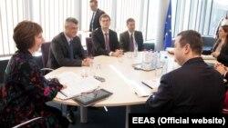 Pamje nga takimi i palëve në Bruksel