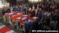 Posmrtni ostaci Karađorđevića u Sabornoj crkvi u Beogradu