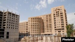 Armenia - A new residential complex is constructed in downtown Yerevan in place of an old neighborhood, undated