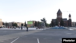 Armenia - Gyumri's central Vardanants Square, 12Sep2016.