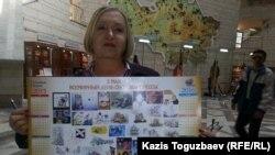 """Тамара Калеева, руководитель прессозащитной организации """"Адил соз"""". Алматы, 30 апреля 2015 года."""