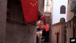 Қашғар қаласындағы көшелердің бірі. Қытай, қараша айы 2017 жыл. Көрнекі сурет