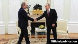 Никол Пашинян и Владимир Путин (архивное фото)