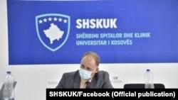 Drejtori i Shërbimit Spitalor Klinik Universitar të Kosovës (SHSKUK), Valbon Krasniqi.