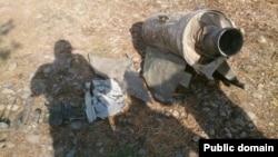 Vurulmuş erməni dronu (Arxiv)