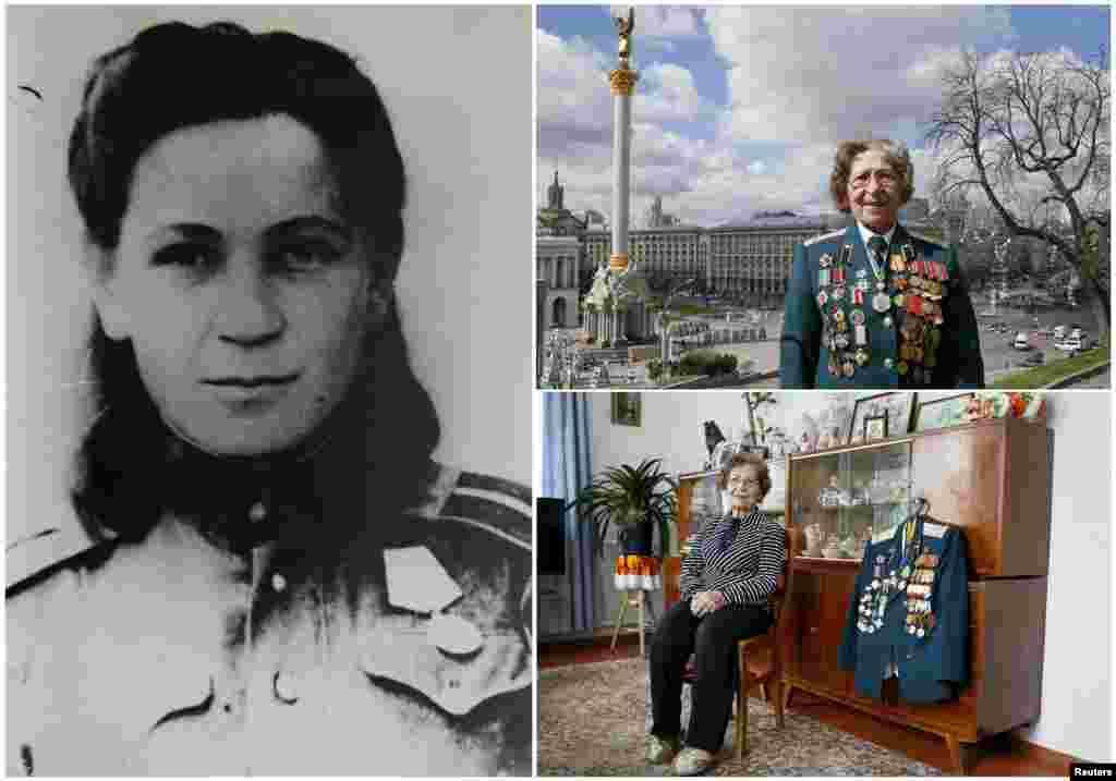 Валентина Куцинич, 94 года. Во время войны украинка служила медсестрой в танковом полку с декабря 1941 по апрель 1946 года. На момент окончания войны оказалась на территории Германии.