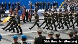 Военный парад в Киеве в День Независимости Украины. 24 августа 2017 года.