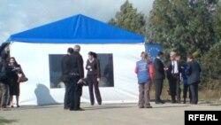 ერგნეთის შეხვედრა, ევროკავშირის სადამკვირვებლო მისიის მიერ საგანგებოდ მოწყობილი კარავი