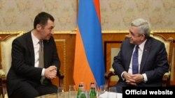 Prezident Serzh Sarkisian və Cem Özdemir, 12 Mart, 2015