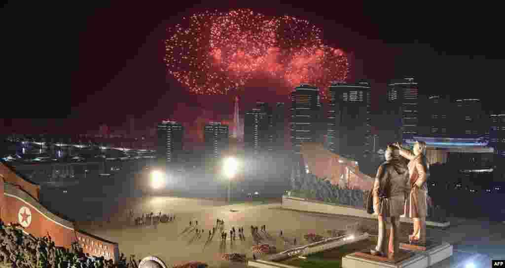 Центральная площадь в Пхеньяне.