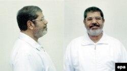 مرسي بملابس السجن في معتقل برج العرب