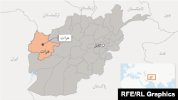 ولایت هرات در نقشه عمومی افغانستان