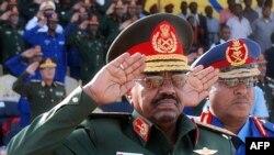Sudanese President Omar al-Bashir at a military function in Khartoum in March 2009