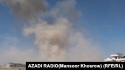 La scurt timp după explozia mașinei încărcate cu exploziv. Ghor, Afganistan, 18 octombrie, 2020
