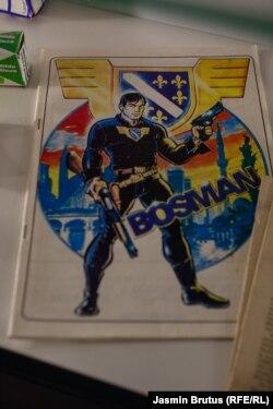 Strip Bosman, ratni bh. strip sa superjunakom koji se bori protiv neprijatelja koji su opkoliki grad