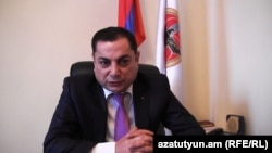 Руководитель парламентской фракции правящей Республиканской партии Армении Ваграм Багдасарян (архив)