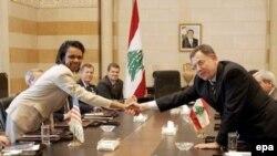 Госсекретарь США Кондолиза Райс с премьер-министром Ливана Фуадом Синиорой