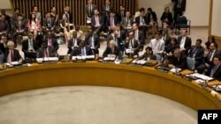 Россия и Китай наложили вето на резолюцию Совета Безопасности ООН по Сирии. Нью-Йорк, 19 июля 2012 года.