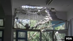 Рафах шаарындагы 28 күн ичинде үч ирет сокку тийген мектеп.