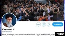 صفحه توئیتر آیتالله خامنهای به انگلیسی حدود ۸۰۰ هزار دنبالکننده دارد.