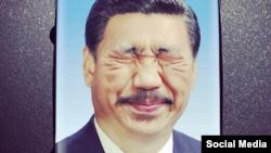 """""""Апгрейд"""" портрета китайского президента Си Цзиньпина, художник Dai Jianyong"""