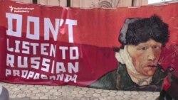 Kyiv Protesters Call On Dutch To Reject Russian Propaganda