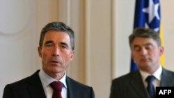 Rasmussen i Komšić, foto iz arhive