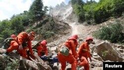 ارشیف، چین کې یوه زلزله ځپلې سیمه August 9, 2017