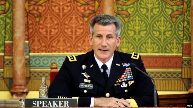 U.S. Army Lieutenant General John W. Nicholson (file photo)