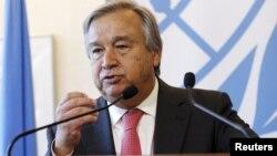 БҰҰ босқындар ісі жөніндегі агенттігінің басшысы Антонио Гутеррес.