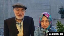 Iranian politicians, Mir Hossein Mousavi and Zahra Rahnavard
