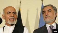 Ashraf Ghani Ahmadzai və Abdullah Abdullah