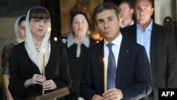 Бидзина Иванишвили и его супруга, Екатерина Хведелидзе