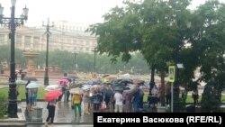 Участники акции 2 августа в Хабаровске.