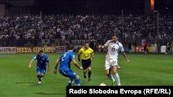 Sa utakmice koje su dve reprezentacije igrale u Zenici, 6.septembar 2013.