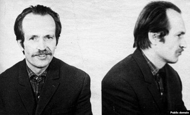 Фото В'ячеслава Чорновола, заарештованого КДБ під час операції «Блок». 12 січня 1972