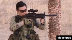 """Taking in his hands one of the newest types of combat weapons on display here, the head of government demonstrated his ability to hit the target, which attests to the high level of his military training,"" the office of Turkmen President Gurbanguly Berdymukhammedov said in a statement."