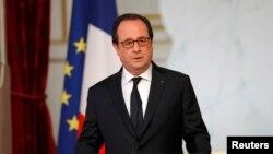 Претседателот на Франција Франсоа Оланд