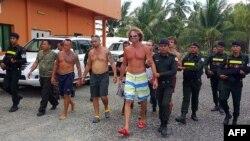 Сергей Полонский во время задержания в Камбодже
