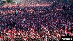 Pamje nga protesta e djeshme në Bagdad